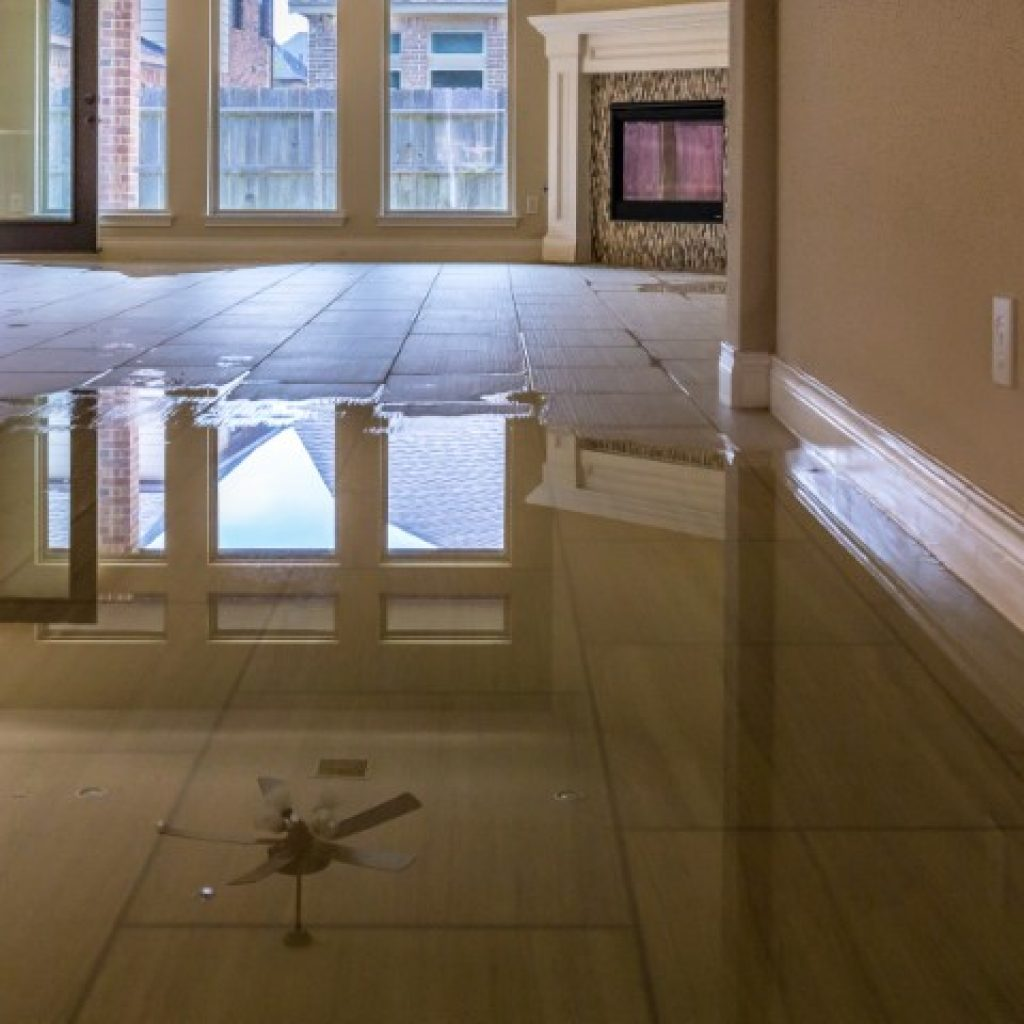 Flooded Floor in House
